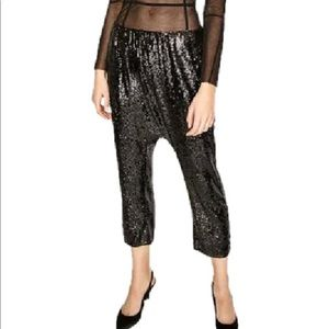 Zara sequinned drop-waist killer pants